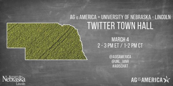 Institute of Agriculture and Natural Resources at UNL to host Twitter Town Hall with AgisAmerica