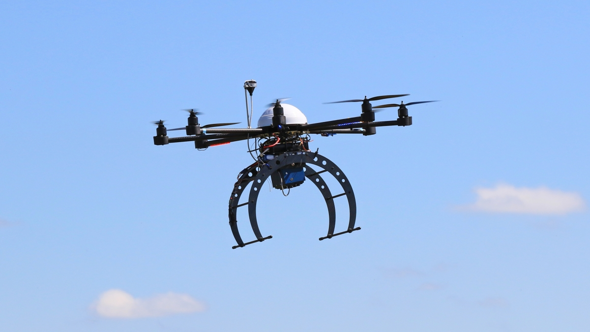 A drone at the NEATA Conference. Links to larger image.