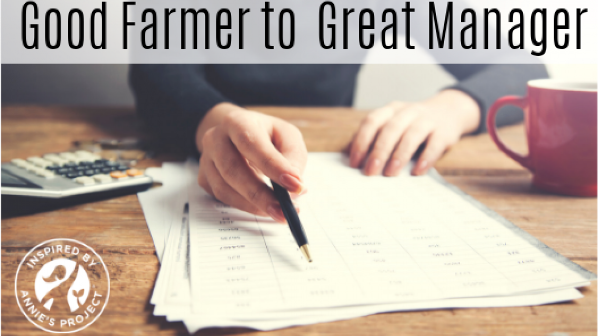 Good Farmer to Great Manager