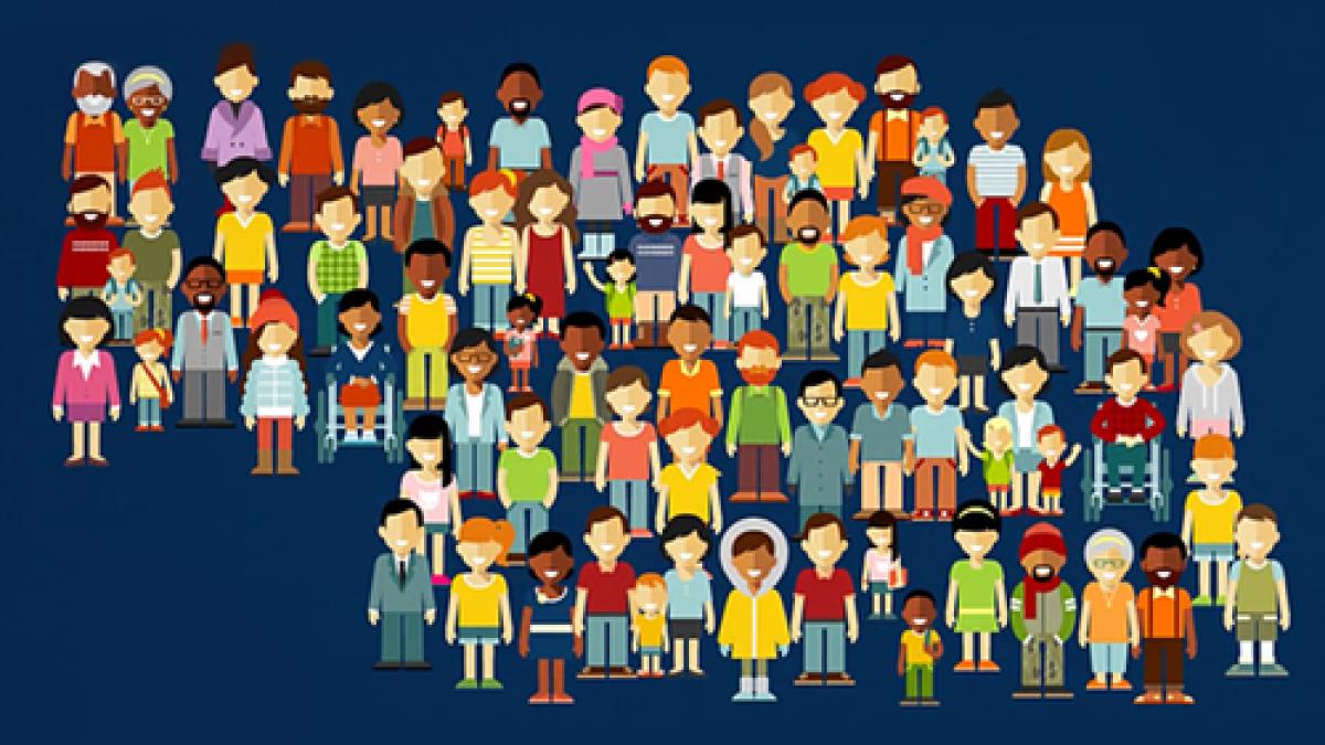 Graphic of people standing in nebraska