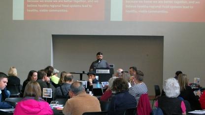 John Porter presenting at the Nebraska Regional Food Systems Summit