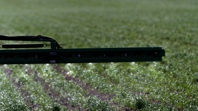 pesticide applied to field