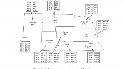 Ag land values map