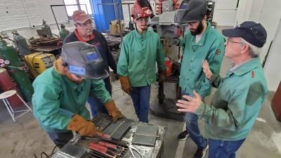 NCTA welding students