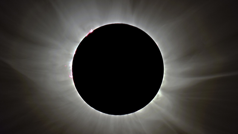 Solar eclipse. Links to larger image.