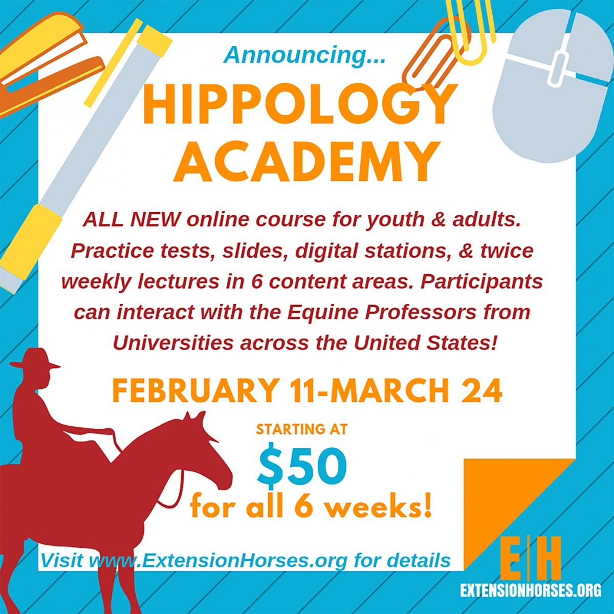 Hippology Academy Flyer. Links to larger image.
