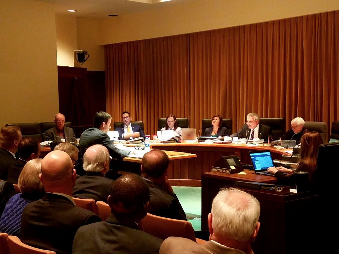 A regents hearing. Links to larger image.