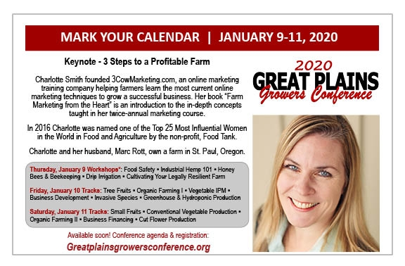 24nd Annual Great Plains Growers Conference and Trade Show flyer. Information provided in text below.