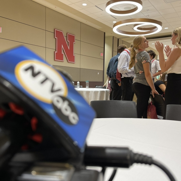 Nebraska Agricultural Youth Institute youth conversing