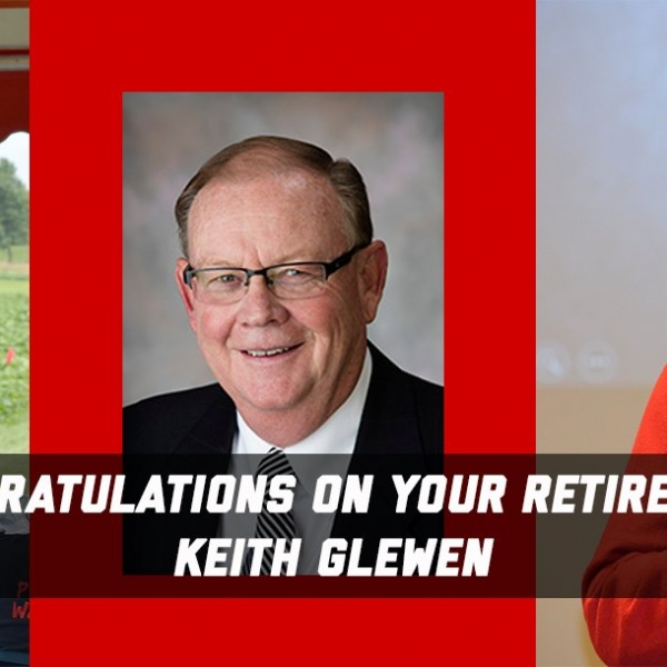 Keith Glewen career photos and congratulations