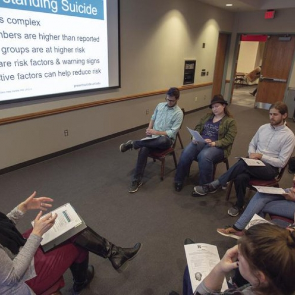 Group discussion suicide prevention
