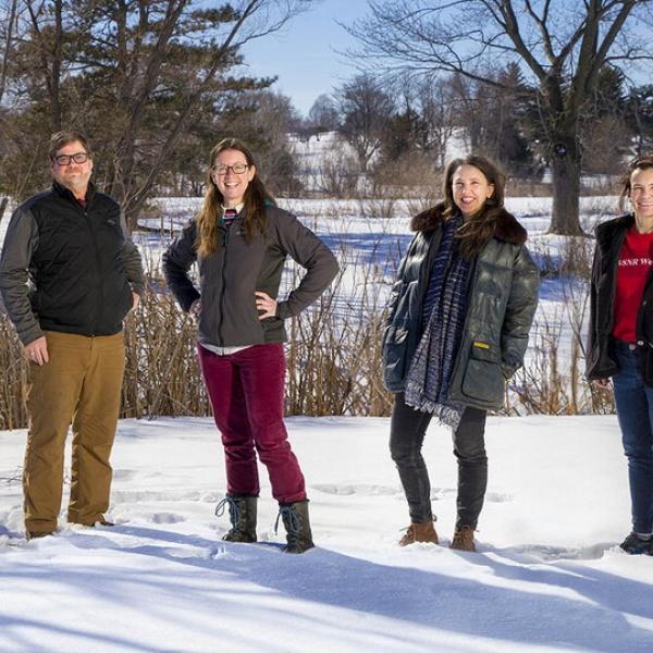 Husker researchers Steven Thomas, Jessica Corman, Katie Anania and Jennifer Clarke